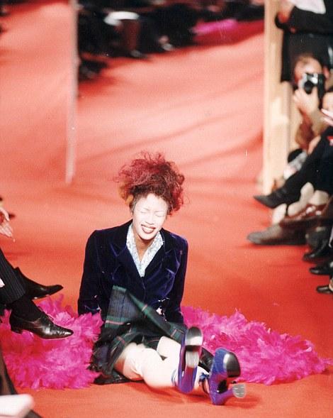 Naomi Campbell Runway Vivienne Westwood Fashion Calendar