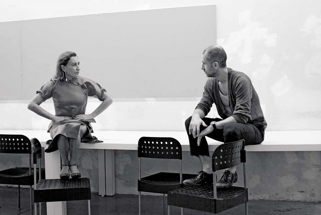 Miuccia Prada y Fabio Zambernardi design