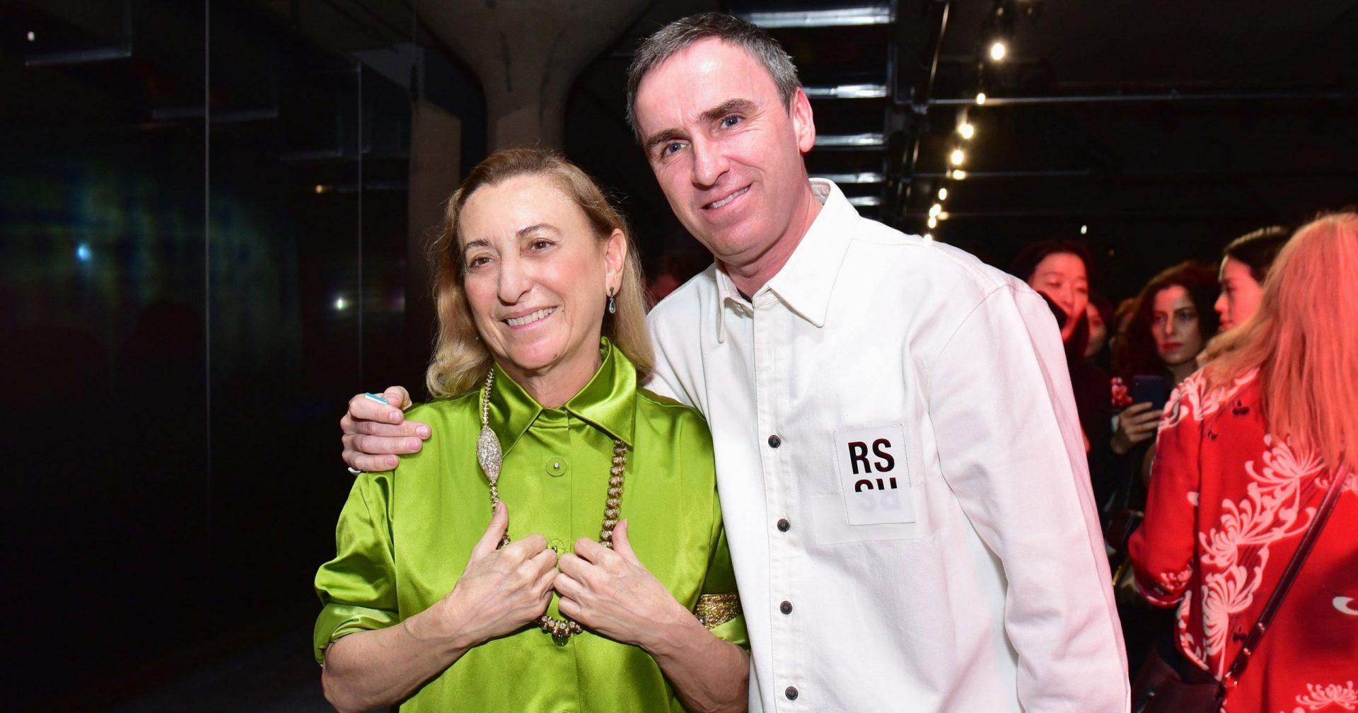Miuccia Prada y Raf Simons