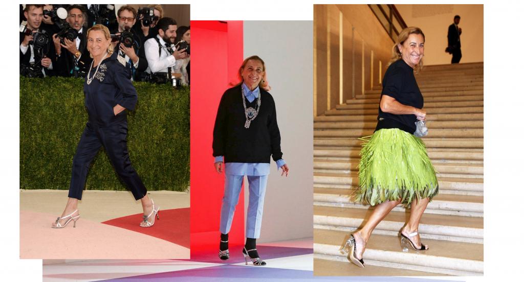 Miuccia Prada best outfits
