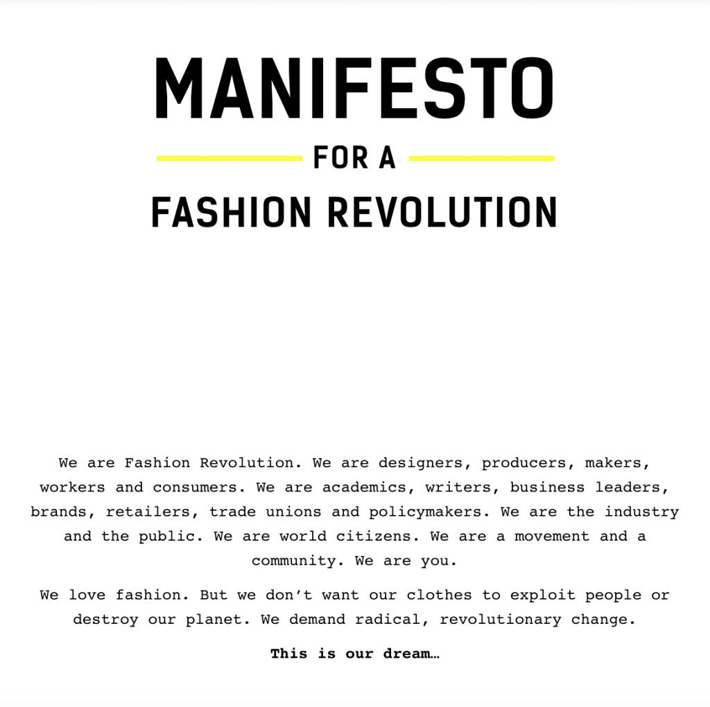 Brand Manifesto Fashion Revolution